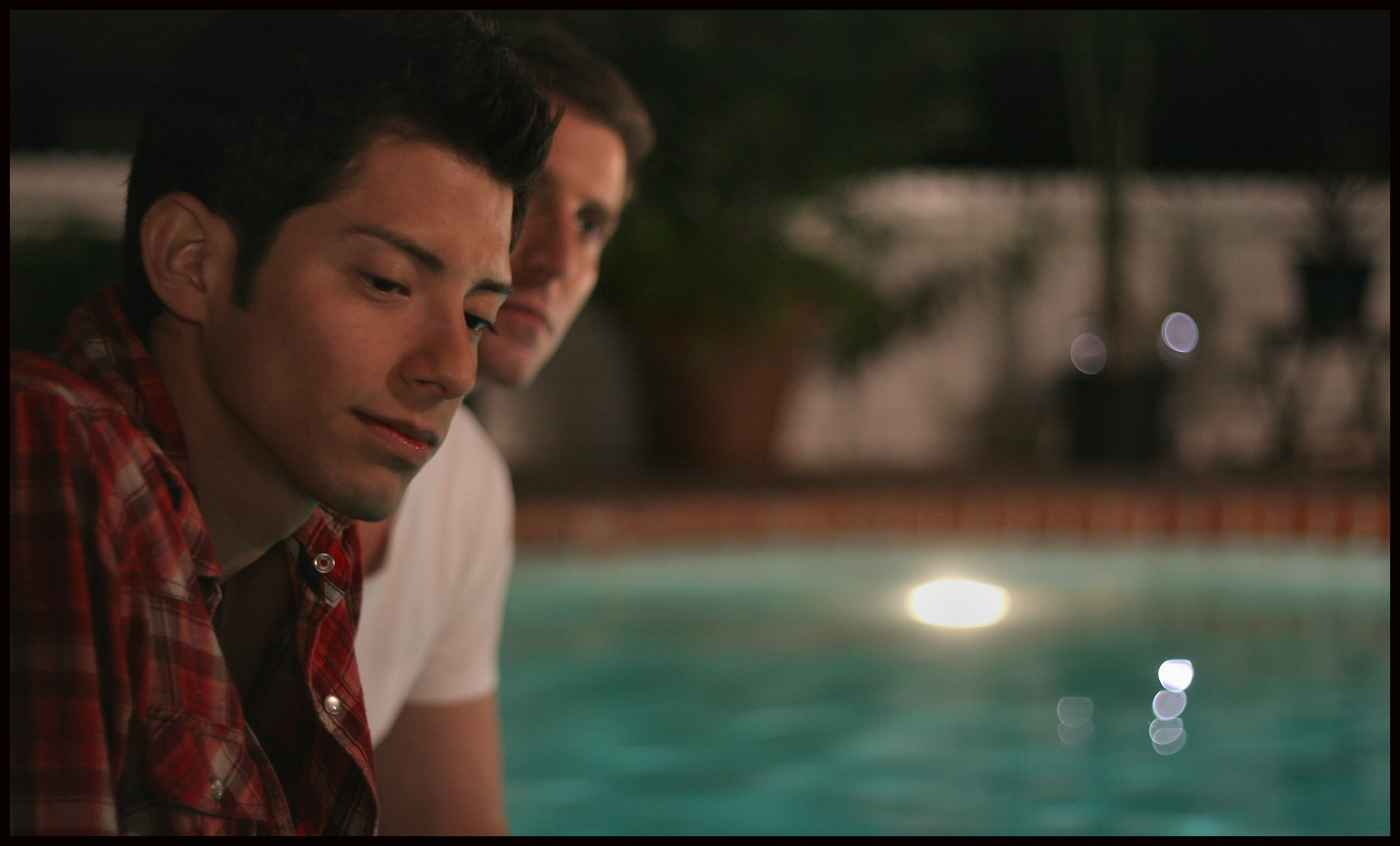 Rafael & Markus at pool after a night out