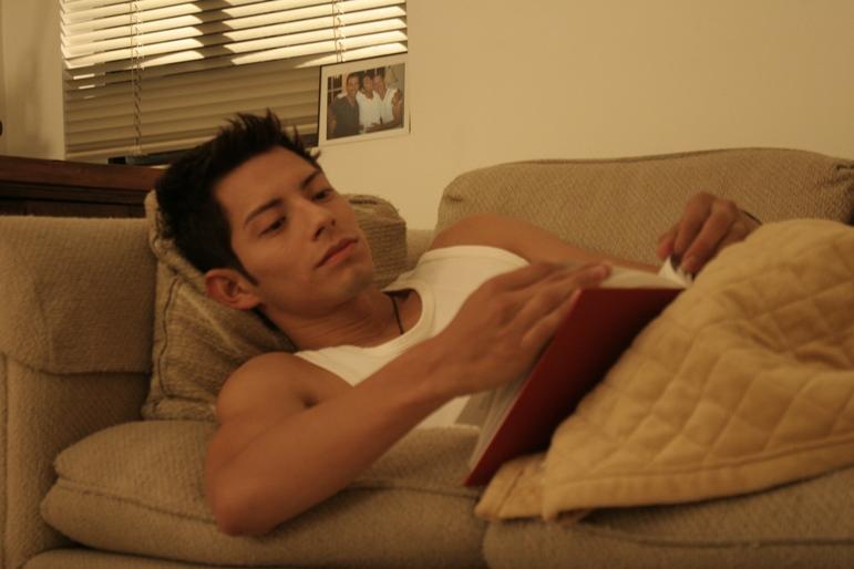 Rafael studying in dorm